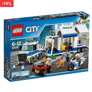 Jucarie baieti LEGO City, centru comanda mobil