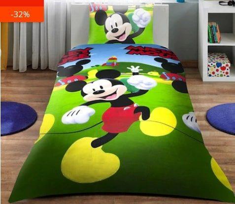Lenjerie de pat pentru copii cu Mickey Mouse